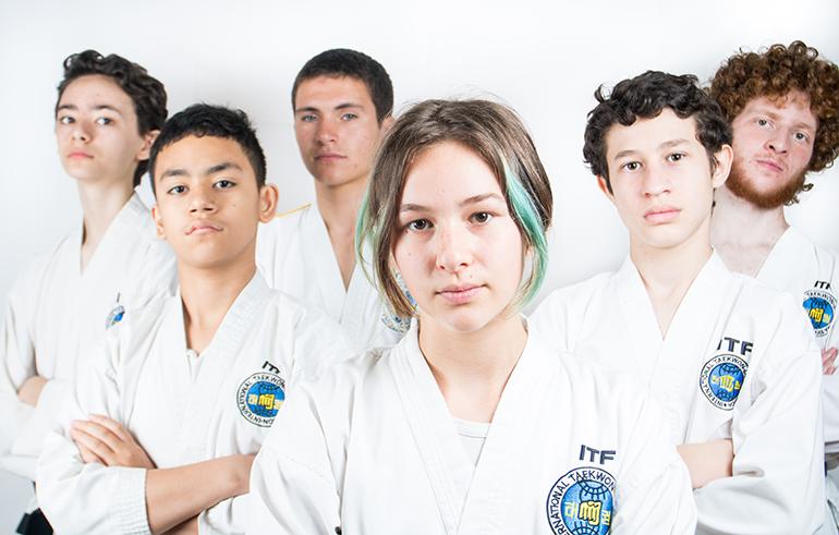 צפה באימון של התלמידים בחוג למתקדמים
